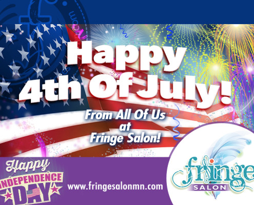 Happy Independence Day from Fringe Salon in Coon Rapids MN!