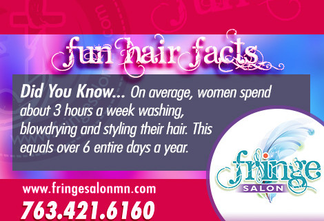 Fringe Fun Fact 02 from Fringe Salon Coon Rapids MN
