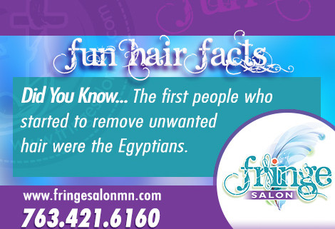 Fringe Fun Fact #3 from Fringe Salon Coon Rapids MN