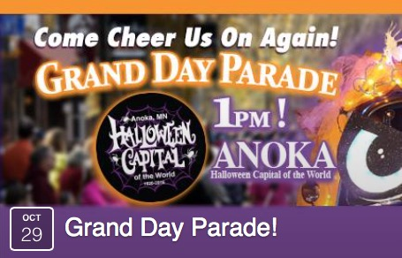 Cheer Us On at the Anoka Grand Day Parade October 29th! | Awesome ...