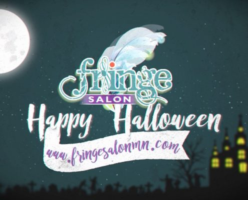 happy halloween from fringe salon in coon rapids