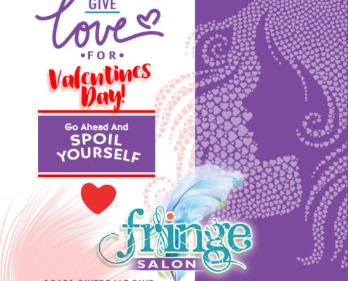 Give love for valentines day - Fringe Salon Coon Rapids MN